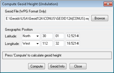 Compute Geoid Height